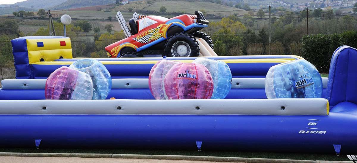 bubble foot monster truck karting evasion lyon