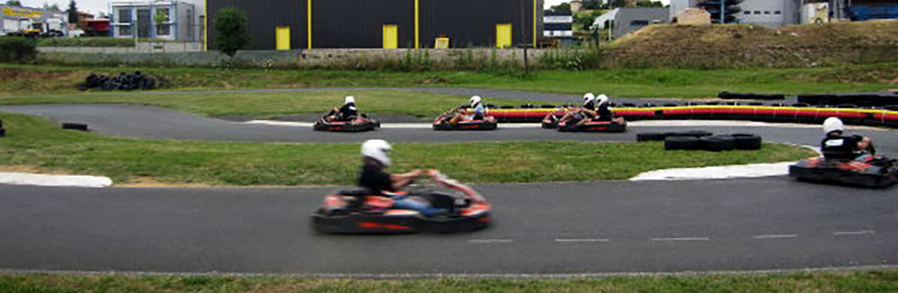 course de karting virage