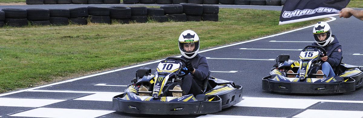 ligne d'arrivée karting lyon extérieur